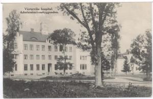 På baksidan av administrationshuset fanns sjukhuskyrkan