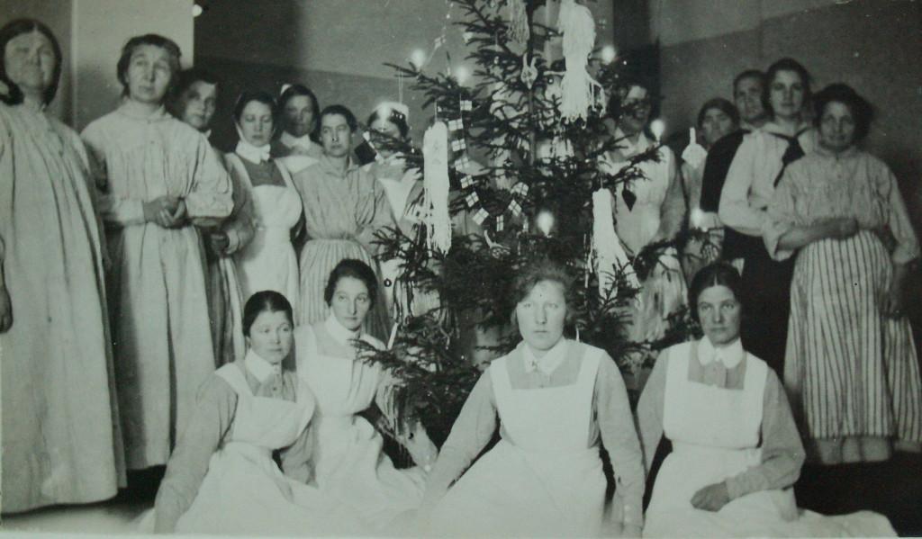 Julfirande på en kvinnsavdelning 1920-talet