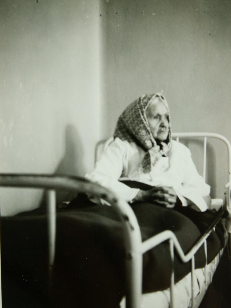 Patient i sin säng